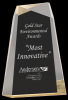 Gold Acrylic Facet Wedge Achievement Awards