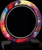 Round Watercolor Acrylic Achievement Awards