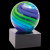 2 Tone Blue/Green Sphere Art Glass Award Art Glass Awards