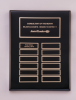 Black Piano-Finish Perpetual Plaque Employee Awards