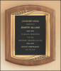 American Walnut Plaque with Antique Bronze Frame Frame Plaques