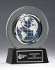 Glass Clock with World Dial Globe Awards
