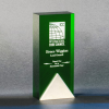Ascend Green Optical Crystal Awards