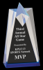 Blue Sculpted Star Acrylic  Patriotic Awards