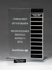 Jade Glass Award with 12 Individual Blocks Sales Awards