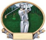3D Oval Golf M 3D Oval Resin Trophy Awards