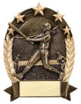 5 Star Oval  Baseball 5 Star Oval Resin Trophy Awards