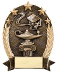 5 Star Oval Lamp Of Knowledge 5 Star Oval Resin Trophy Awards