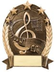 5 Star Oval Music 5 Star Oval Resin Trophy Awards
