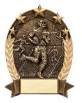 5 Star Oval  Football 5 Star Oval Resin Trophy Awards