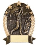 5 Star Oval  Golf 5 Star Oval Resin Trophy Awards