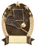 5 Star Oval Lacrosse Generic 5 Star Oval Resin Trophy Awards