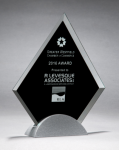 Diamond Series Glass Award with Silver Metal Base Achievement Awards