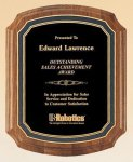 American Walnut Notched Plaque Achievement Awards
