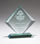 Diamond Series Thick Jade Glass Award Achievement Awards