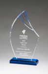 Flame Series Clear Acrylic with Blue Accents Achievement Awards