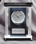 Smoked Glass Clock With Pillars Achievement Awards