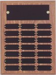 9 x 12 Perpetual Plaque with 21 Engraving Plates Achievement Awards