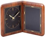 Walnut Desk Clock Plaque Achievement Awards