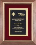 Walnut Frame Corporate Plaque Achievement Awards