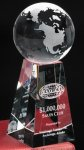 Tapered Globe Crystal Award Achievement Awards