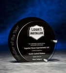 Circle Black and Clear Depth Acrylic Award Achievement Awards