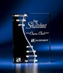 Wave Crevice Acrylic Award with Black Accent Achievement Awards