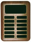 Elliptical Genuine Walnut Perpetual Plaque Achievement Awards