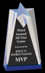 Blue Sculpted Star Acrylic  Acrylic Awards