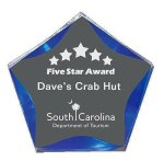 Blue Luminary Star Acrylic Acrylic Awards
