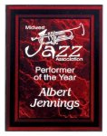 Red Marble Border Clear Acrylic Award Plaque Acrylic Plaques