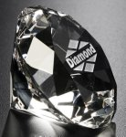 Diamond Paper Weight All Optical Crystal
