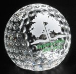 Clipped Golf Ball All Optical Crystal