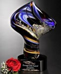 Golden Twist Glass Award Art Glass Awards