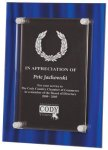 Blue Velvet Acrylic Plaque Award Art Glass Awards