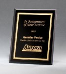 Black Glass Plaques with Gold Borders Black Glass Awards