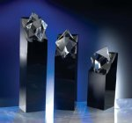 Diamond in the Rough Black Optical Crystal Awards