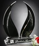 Wings of Peace Black Optical Crystal Awards