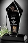Tuxedo Award Flame Black Optical Crystal Awards