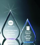 Beveled Teardrop Acrylic Award Blue Acrylics