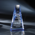 Ara Blue Optical Crystal Awards