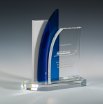 Compound Blue Optical Crystal Awards