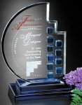 Azure Moon Blue Optical Crystal Awards