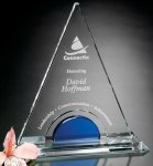 Masters Tower Blue Optical Crystal Awards
