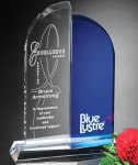 Brigadier Award Blue Optical Crystal Awards