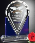 Distinction Award Blue Optical Crystal Awards
