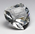 Corporate Crystal Heart Desk Accessory Boss' Gifts