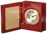Rosewood Piano Finish Book Clock Boss' Gifts