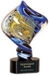 Diamond Twist Art Glass Award Boss' Gifts