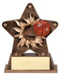 Star Burst Resin Basketball Bursting Star Resin Trophy Awards
